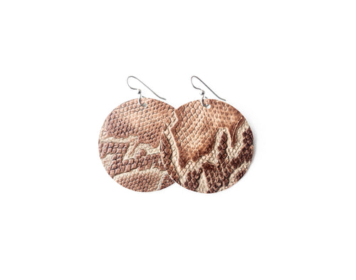 Canal Street Leather Earrings