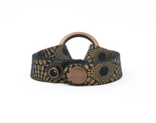 Load image into Gallery viewer, Starburst Blue and Bronze Leather Bracelet