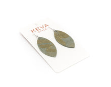 Load image into Gallery viewer, Glamper Green Leather Earrings