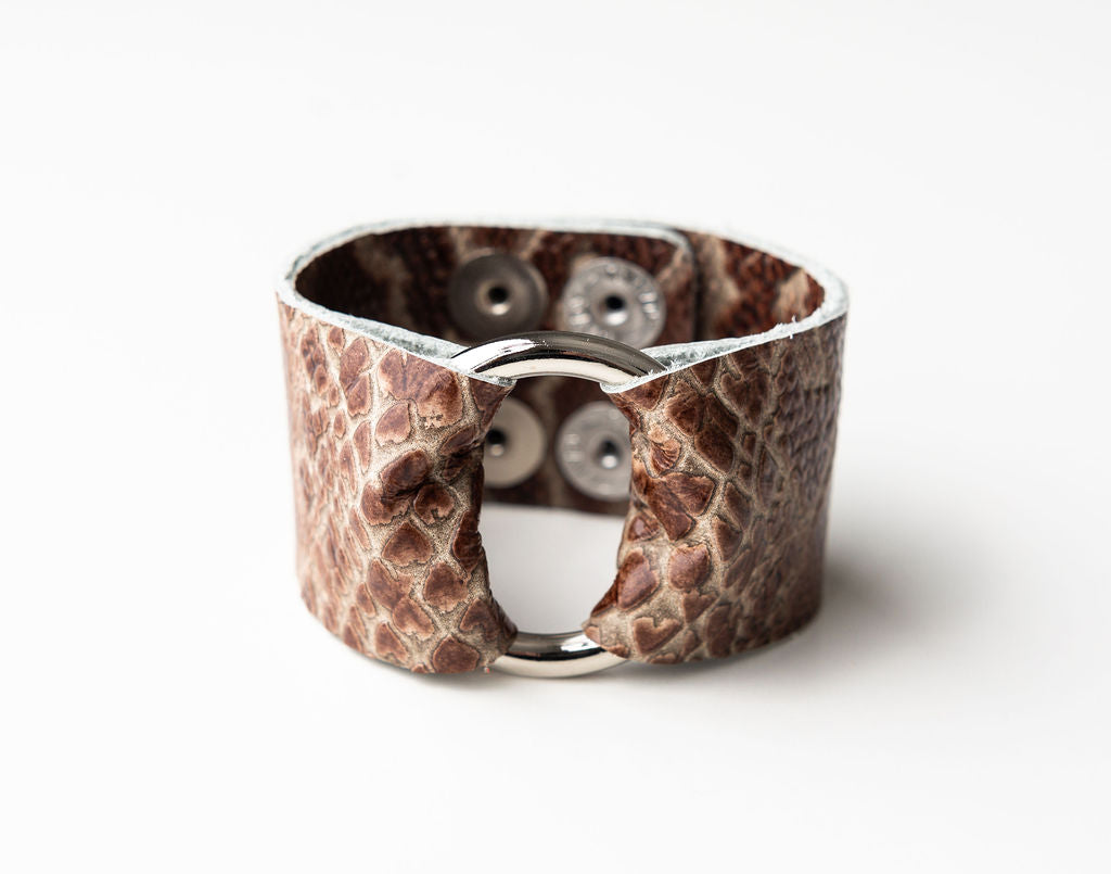 Canal Street Leather Cuff