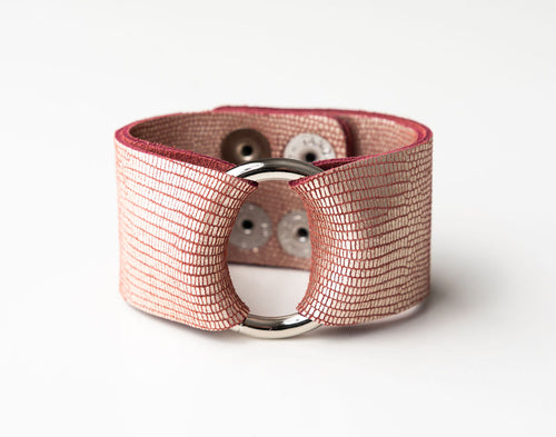 Crozet Rose Leather Cuff