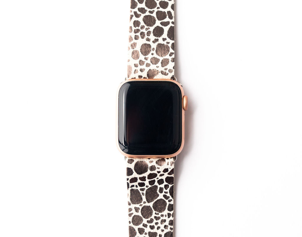 Pebbles in Silver Watch Band