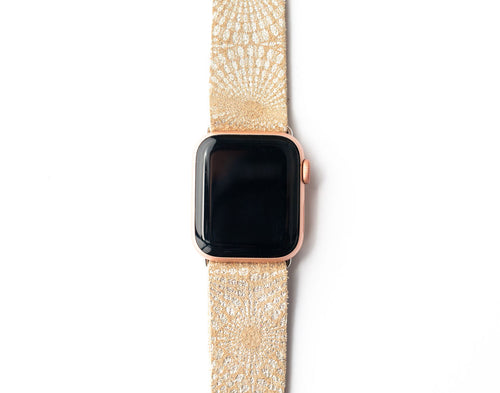Starburst Gold Watch Band