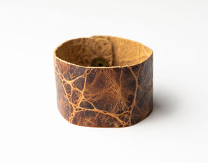 Brown's Island Wide Leather Cuff