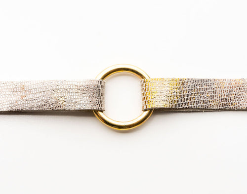 Gold and Brown Shimmer Bracelet