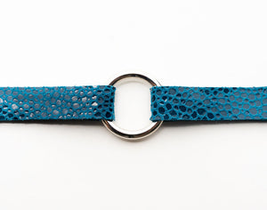 Turquoise Speckled Leather Bracelet
