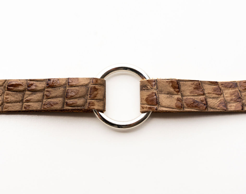 Canal Street in Light Brown Leather Bracelet