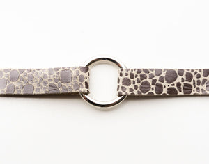 Pebbles in Silver Leather Bracelet