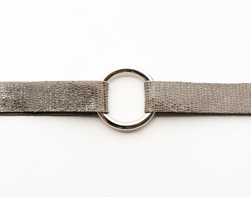 Brush Stroke in Taupe Leather Bracelet