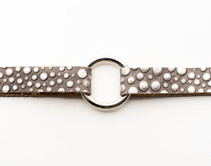Light Gray Bubbly Leather Bracelet