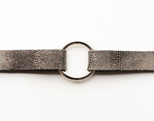 Load image into Gallery viewer, Luna in Silver and Black Leather Bracelet