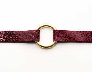 Wine Speckled Leather Bracelet