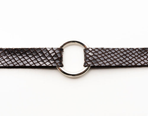 Boa in Espresso Brown Leather Bracelet