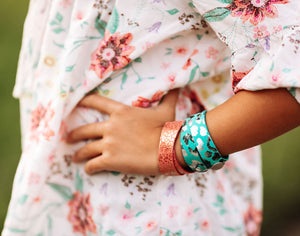 Rosé Pop KEVA Girls Earring and Wrap Bracelet Set