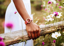 Load image into Gallery viewer, Rosé Pop Leather Bracelet