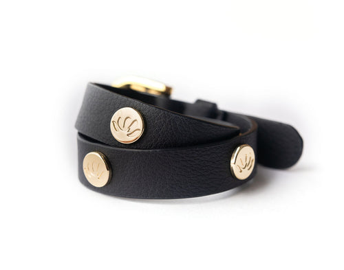 CACTUS 2 in 1 Wrap Bracelet + Choker in Black