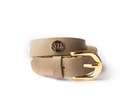 CACTUS 2 in 1 Wrap Bracelet + Choker in Taupe