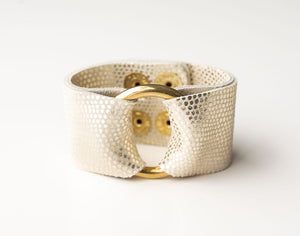Champaigne Speckled Leather Cuff