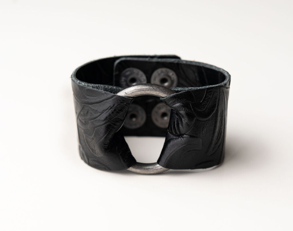 Belle Island Leather Cuff