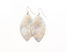 Load image into Gallery viewer, Silver Foil Leather Earrings