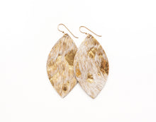 Load image into Gallery viewer, Gold Foil Leather Earrings