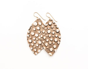 Gold Bubbly Leather Earrings