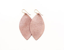 Load image into Gallery viewer, Crozet Rose Leather Earrings