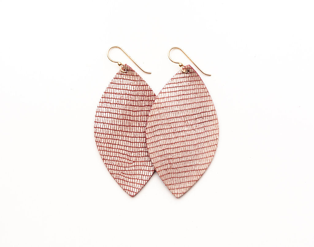 Crozet Rose Leather Earrings