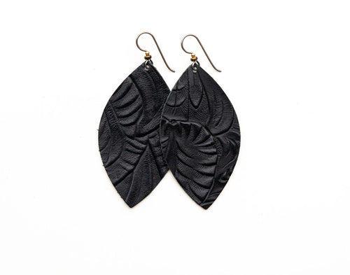 Belle Island Leather Earrings