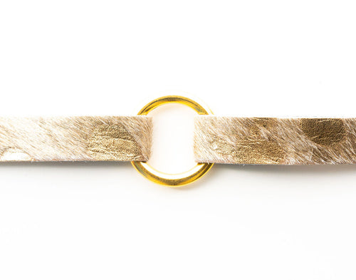 Gold Foil Leather Bracelet