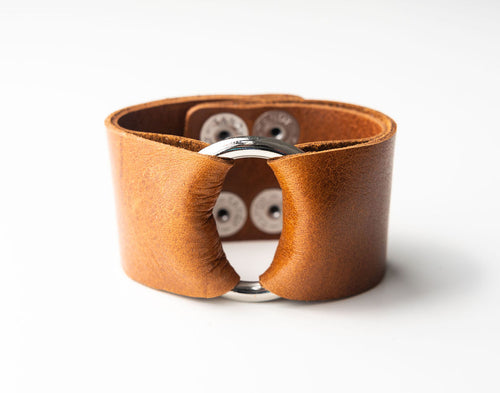 Classic Brown Leather Cuff