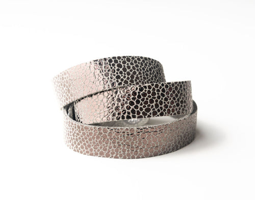 Anthracite Speckled Leather Wrap