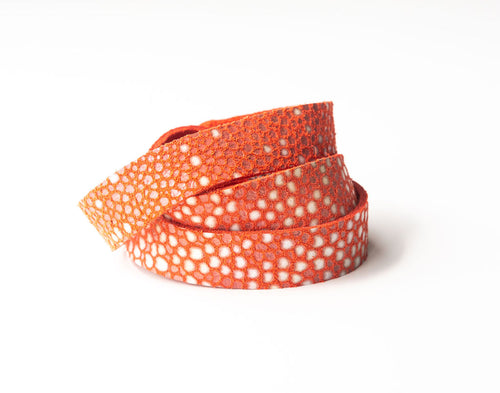 Coral Speckled Leather Wrap