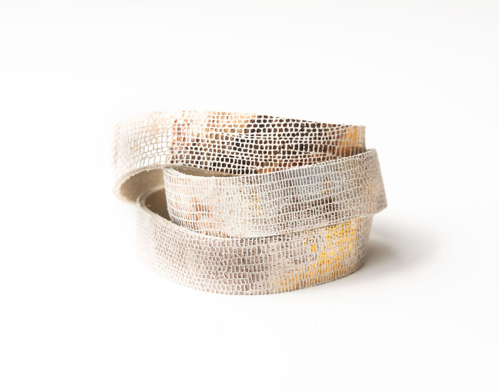Blend of Metallic Shimmer Leather Wrap