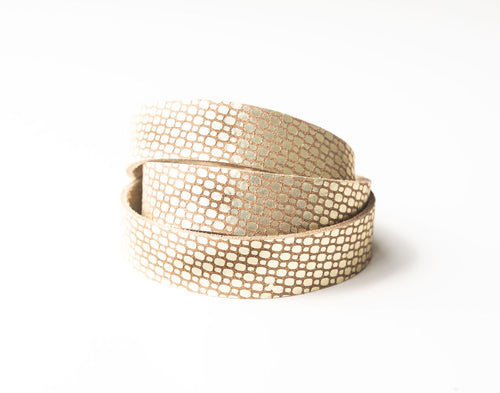 Cobblestone Gold Leather Wrap