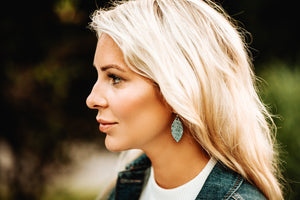 Phoenix Leather Earrings