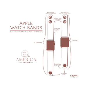 KEVA Apple Watch Band - LIMITED Leathers - Fits 42mm-44mm