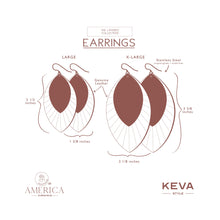 Load image into Gallery viewer, Gold Foil with Blush Fringe Base | Double Layer Leather Earring