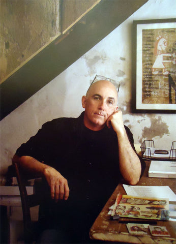 "Portrait of Mark Bercier by Jerry Siegel from his current book ""Facing South: Portraits of Southern Artists"""
