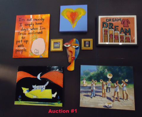 Auction #1 Package includes 7 Artists and Auction #6 Ed Edwards original