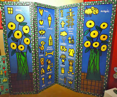 Healin' Symbols Folding Screen