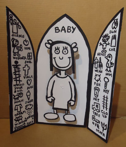 Copy of BABY & THE HEALIN' SYMBOLS ALTAR PIECE