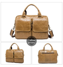 Load image into Gallery viewer, Men's Leather Bag