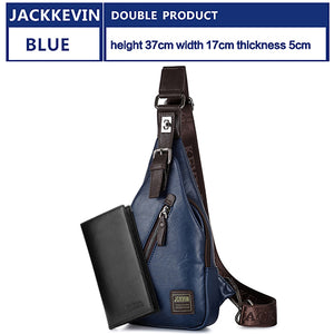 Men's Theft-proof Chest Bag + Wallet + Headset Box