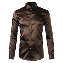 Load image into Gallery viewer, Men's Satin Slim Fit Shirt