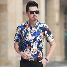 Load image into Gallery viewer, Men's Summer Floral Slim Fit Shirt