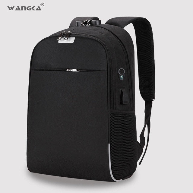 Men's Anti-Theft USB Charging Backpack