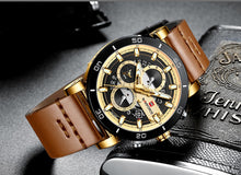 Load image into Gallery viewer, Men's Sports Waterproof Leather Watch