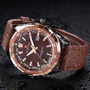 Men's Luxury Business Waterproof Leather Watch