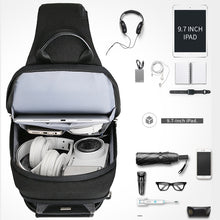 Load image into Gallery viewer, Men's Anti-thief Crossbody Bag with USB